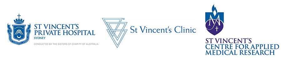 Logos of various St Vinicents Hospital Departments